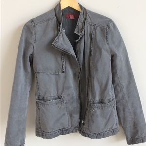 French Connection fcuk grey moto jacket, size 4